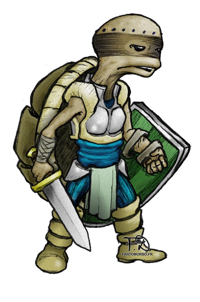 guerrier tortue